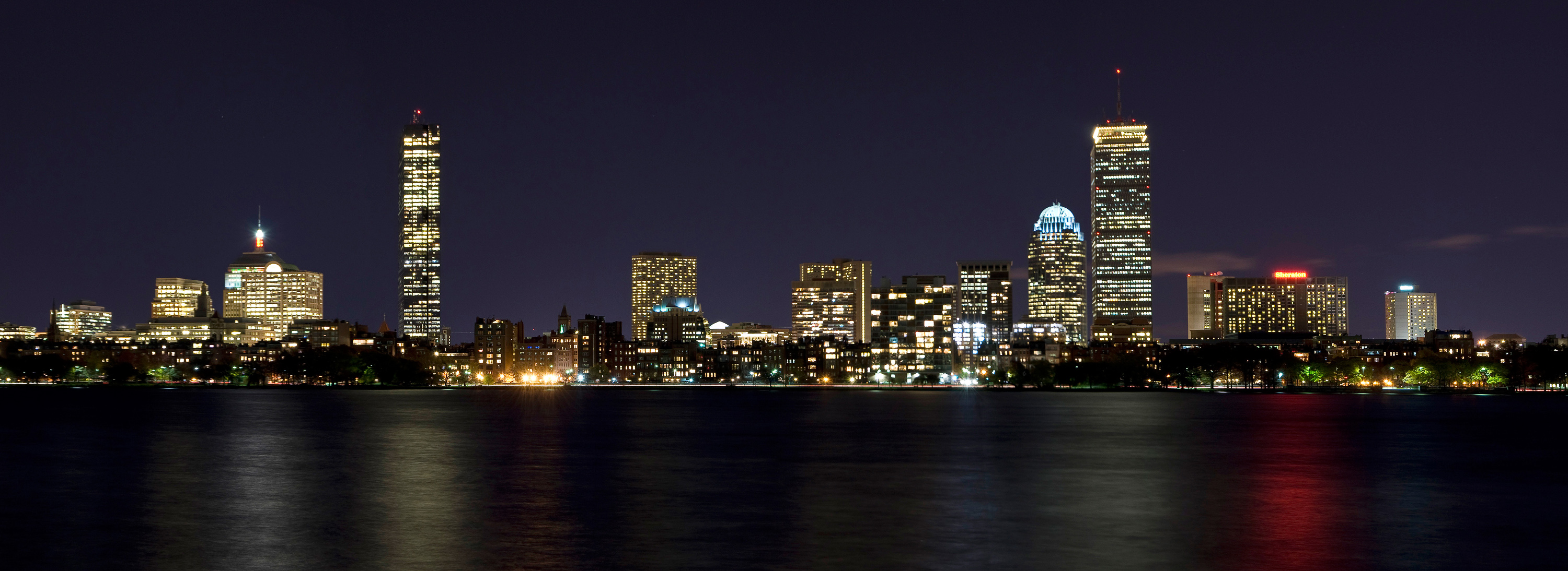 Boston, MA Skyline at Night